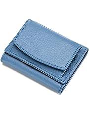 [imeetu]三つ折り財布 小銭入れ ミニ財布 小さい財布 カード入れ コインケース ボタン型 マルチファンクション 本革 レディース