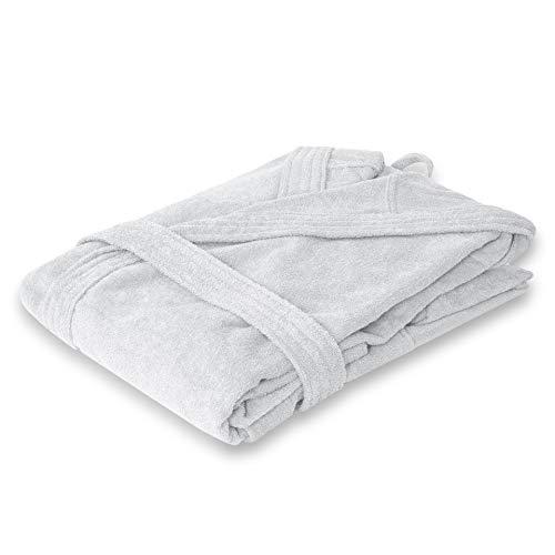 Premium Bademantel Weiß (Größe XL) von StickandShine in 420g/m² aus 100% Baumwolle Öko-TEX Standard 100 Materialien