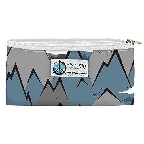 Planet Wise Reusable Zipper Sandwich and Snack Bags, Snack, Summit Poly