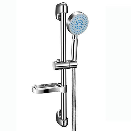 PGFUN Duschsäule Duschset, 5 Strahlarten Regendusche Duschsystem mit Brausestange,Handbrause,Brauseschlauch für Badezimmer