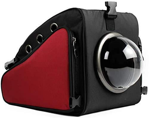 FQCD Haustier-Rucksack Leichter Raumkapsel Blase Pet Carrier (Color : Red)