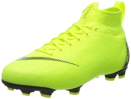 Nike Jr Superfly 6 Elite Fg, Scarpe da Calcio Unisex-Adulto, Verde (Volt/Black 701), 38.5 EU