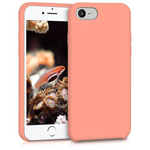 kwmobile Funda compatible con Apple iPhone 7 / 8 - Carcasa de TPU para móvil - Cover trasero en coral