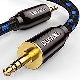 DuKabel HiFi - Cavo audio AUX da 3,5 mm maschio a 3,5 mm maschio audio jack per cuffie, auto, smartphone, subwoofer o home theatre - 2.4 m