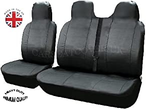 Black And Blue Patch 2 HMS FOR NISSAN PRIMASTAR 2012 1 Premium Van Seat Covers Single Drivers And Double Passengers Seat Covers