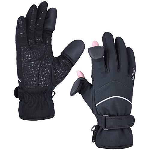 Goture Handschuhe, 3M Thinsulate, Winterhandschuhe wasserdichte Winddichte Fahrhandschuhe Touchscreen-Handschuhe (schwarz, XL)