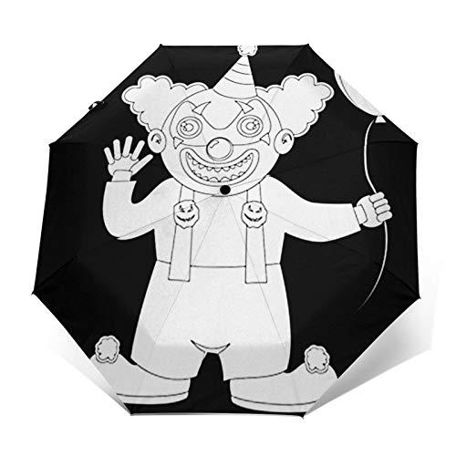 Parapluie Pliant, Parapluie Pliable Automatique Ouverture Et Fermeture Résistant à Tempête Compact Léger Parapluie De Voyage pour Homme Et Femme Halloween Costume Garçon