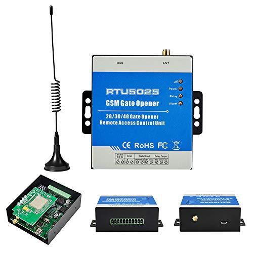 INGHU Senders GSM Gate Opener, RTU5025 Door Opener con control GSM Dial Control, Open on Off SMS 3G Alarm Remote Switch Portable Door Opener, ver imagen, talla abierta