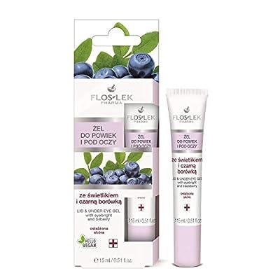 Floslek Pharma Lid & Under Eye Gel with Eyebright & Bilberry 15ml from Floslek
