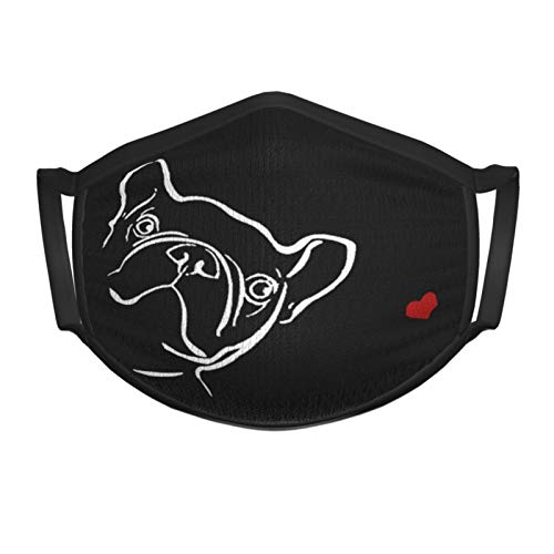 French Bulldog Face Mask for Kids and Toddlers Made of Washable Reusable 100% Cotton Fabric,Adjustable Ear Straps Metallic