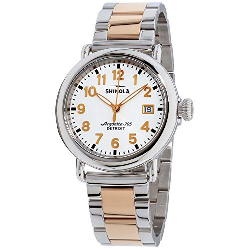 Shinola The Runwell Quartz Movement White Dial Ladies Watch S0120089898