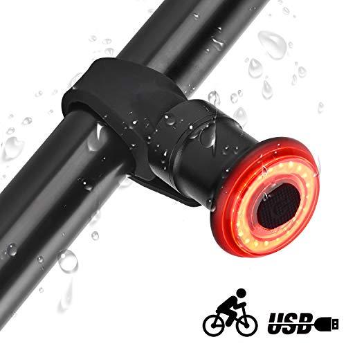 runhua Luce Posteriore Smart Bike, Fanale Posteriore Bici Intelligente, LED Luce Posteriore Bici USB Ricaricabile con Smart Sensore, Luce per Bicicletta per la Massima Sicurezza in Bicicletta