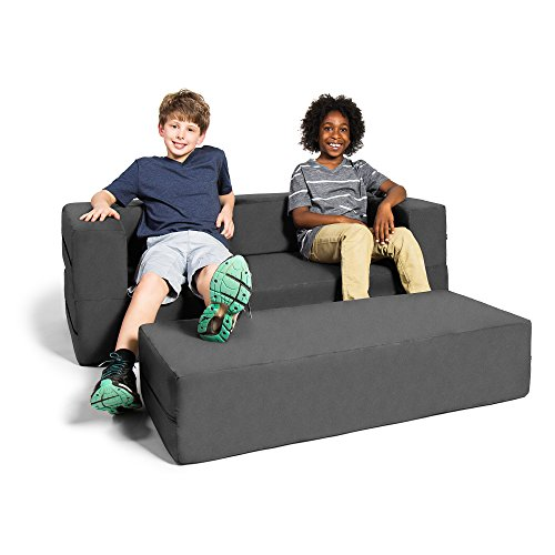 Jaxx Zipline Sofa & Large Ottoman 3 in 1 Fold Out...