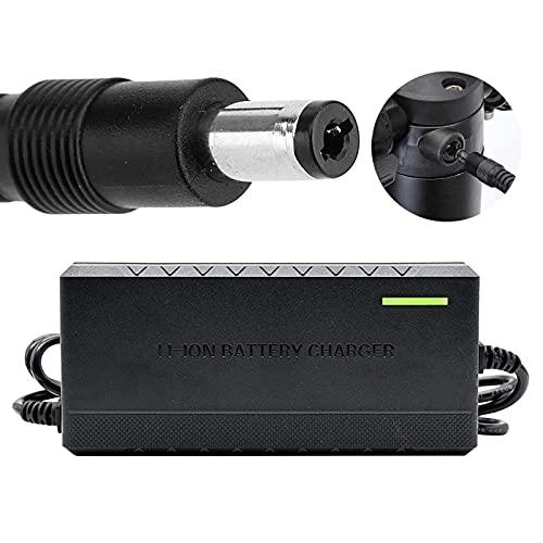 joyvio Cargador de 36V 42V Salida de batería de Litio 3A para Paquete de baterías de Bicicleta eléctrica Enchufe de CC de 5,5 mm x 2,1 mm