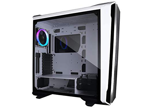 Raidmax Magnus Z23 Full Tower Computer Gaming Case Tempered Glass, 120 mm ARGB Fan and ARGB Hub Controller Included (White)
