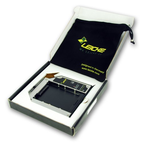 LEICKE DUAL SATA 2.HDD/SSD Serial Ultrabay Slim Adapter fuer Lenovo Thinkpad, z.B. T400, T400s, T410, T410i, T410s,T420s T420SI, W500, T500, T510, X200, X220, X220s, X220T 9,5 mm | mit LEICKE Hyperspeed Technologie (optimiert für SSD)