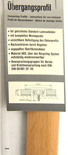 Übergangsprofil Buche für Laminat 7-11 mm mit UP 34mm