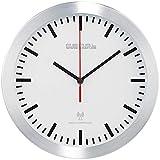 PEARL Küchenuhr Funkuhr: Elegante Funk-Wanduhr im Alugehäuse, laufruhiges Quarz-Uhrwerk (Küchen Funkuhr Wanduhr)