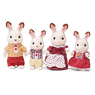 Calico Critters Hopscotch Rabbit Family, Dollhouse Figures, Collectible Easter Bunny Toy for Girls