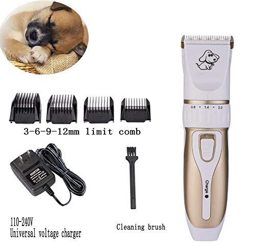 Elektrische tondeuse voor huisdieren met een laag geluid, draadloos, met USB-oplaadkabel voor honden en paarden