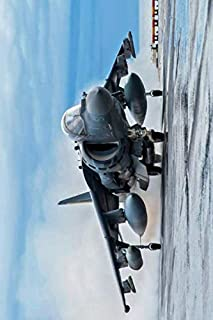 AV-8B Harrier II Notebook, Journal, Diary - Classic Writing 120 Lined Pages #3: Famous Places Unique Art Masterpiece Sculp...