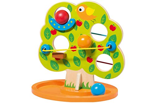 Playtive Holzspielzeug, Echtholz Kugelbahn