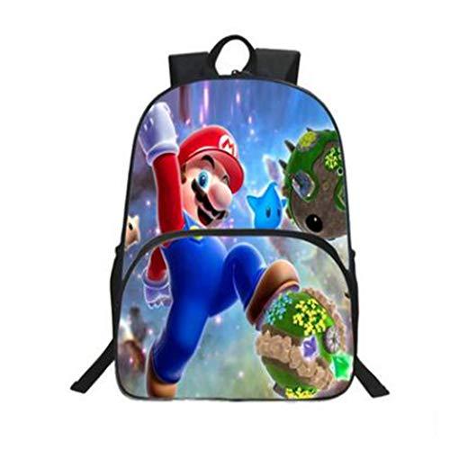LIUHUIJUN Cartoon Anime Super Mario Schooltas voor kinderen Studentenrugzak Rugzak 40 * 30 * 16CM Gewicht 380g