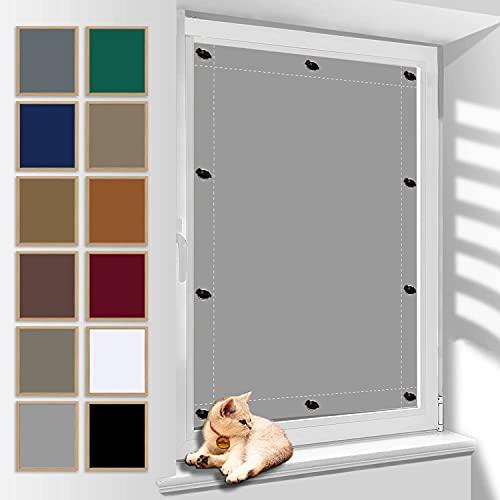 Sonnenschutz Dachfenster Dachfenster Rollo Roto Fenster, Fensterfolie Sonnenschutz Hitzeschutz, UV Schutz Blickdicht und Thermo Sonnenschutz, Plissee mit Saugnapf für Beliebige Fenster 120x150cm