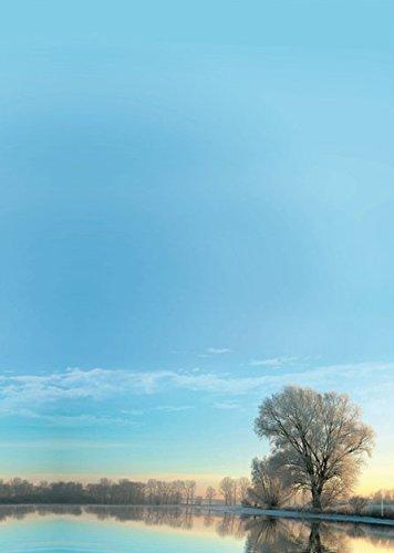 """Motivpapier """"Winter Morgen"""" 20Blatt, A4,100g/m², hochwertiges Briefpapier für Laser/Tinte/Kopie/Handschrift"""