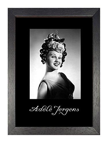 Blue Banana Adele Jergens - Poster con Cornice, Formato A4, Motivo Attrice di Hollywood, Vintage, in Bianco e Nero