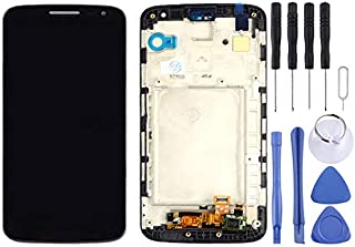 HAGUO AYSMG LCD Display + Touch Panel with Frame for LG G2 Mini / D620 / D618(Black) (Color : Black)