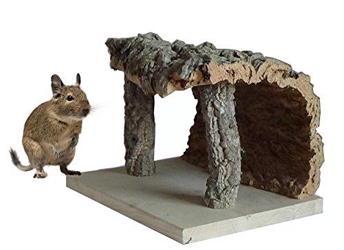NUR HIER : Kork-Unterschlupf für alle Kleintierkäfige und Terrarien: 22 x 28 x 20 cm, rein ökologisches Käfig- und Terrarienzubehör, funktionell und dekorativ