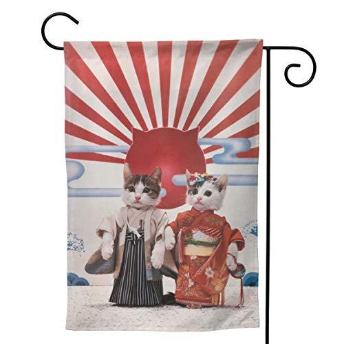 Bettiboy Outdoor Garten Flagge Haus Willkommen Fahne Banner doppelseitig Deko für Zuhause Dekoration, Polyester, weiß, 28