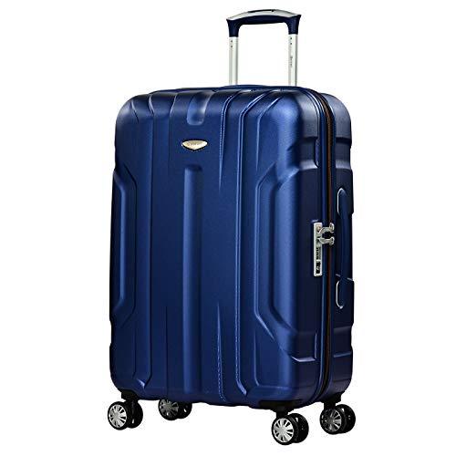 Eminent Valigia X-tec 66cm 70L Valigia viaggio & leggera Superficie anti-graffio 4 Ruote doppie Lucchetto TSA Blu