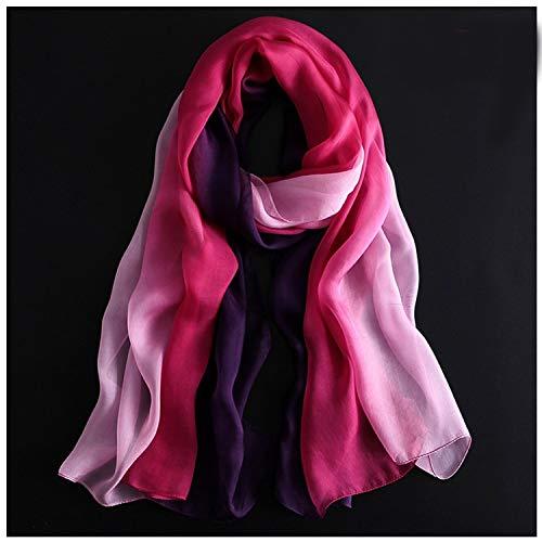 Preisvergleich Produktbild Schal Schal Seide Gradient Schal,  Frauen Dekorative Schal,  Strandtücher Schals (Color : 08,  Size : 180 * 70)
