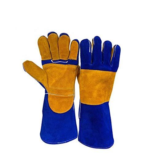 TYXHZL lederen gelaste handschoenen, hittebestendig en krasbestendig snijden/perfect voor het blokkeren van warmte en het beschermen van handen (16