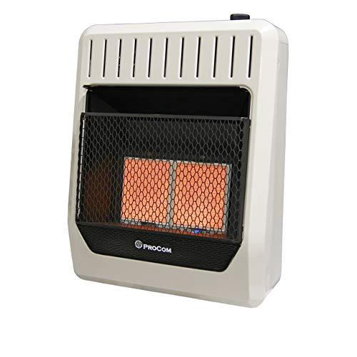 ProCom ML2PHG Heating Liquid Propane Gas Ventless Infrared Plaque Heater, 20,000 BTU, Black