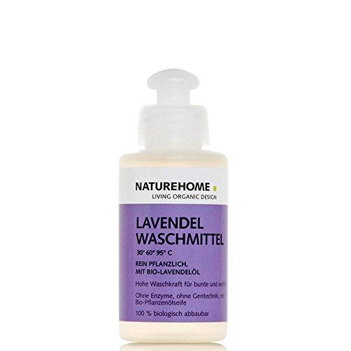 NATUREHOME Bio-Waschmittel flüssig I Reise- & Probierflasche I ideal für Weiß- & Buntwäsche I VEGAN I Color-Waschmittel mit natürlichem Lavendel-Duft I 120 ml
