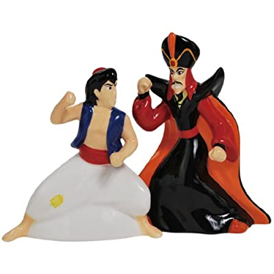 Westland Giftware Magnetic Ceramic Salt and Pepper Shaker Set, 4.5-Inch, Disney Aladdin and Jafar, Set of 2 by Westland Giftware