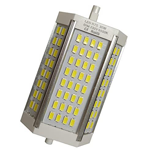 Atomant - Lampadina LED R7s 118 mm, 30 W, dimmerabile, 3000 lumen, ricambio per lampadina alogena da 300 W, colore: bianco caldo (3000 K), 30 W
