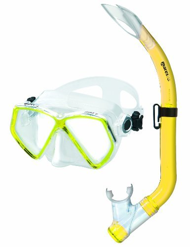 Mares Kinder Maske plus Schnorchel Set Zephir Junior, Clear Yeallow, 8-14 Jahre