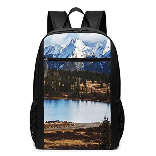 School Backpack Range Mountain Landscape Rocky, College Book Bag Business Travel Daypack Casual Rucksack for Men Women Teenagers Girl Boy