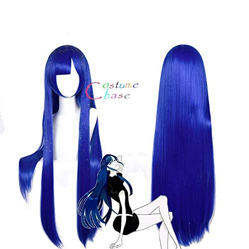 Land of The Lustrous Houseki No Kuni Lapis Lazuli Wig for Women Girls Straight Cosplay Wig Costume Party Blue+ Free Wig Cap