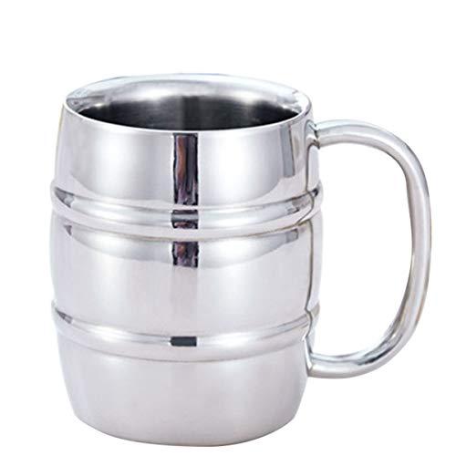 YOPOTIKA Taza de acero inoxidable con asa, doble varita mágica, aislada, taza de café, taza de té (300 ml)