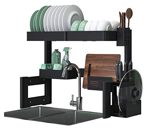 Égouttoir Drenatrici per piatto 26x12x20in, rastrellino da asciuginamento del piatto, sovrapposizione, supporto da tavola e utensili, antigelo, lavandino, portaviglie, alluminioMateriale, per uso dome