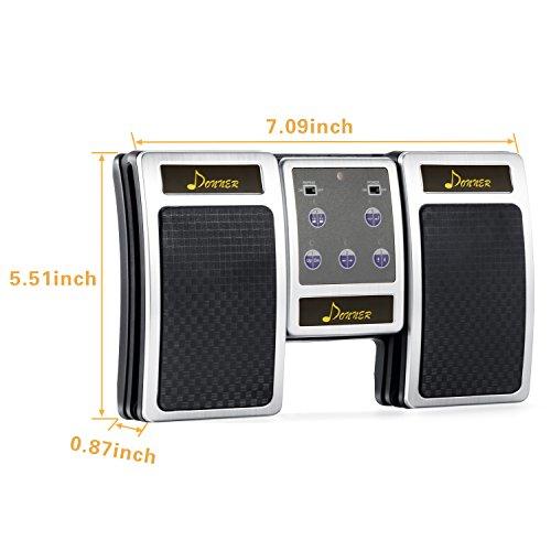 Donner Pedal Página Bluetooth Recargable para Tablet, Plateado
