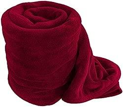 RS Quality Double Polar Fleece Plain Blanket (217X195cm, Multicolour)