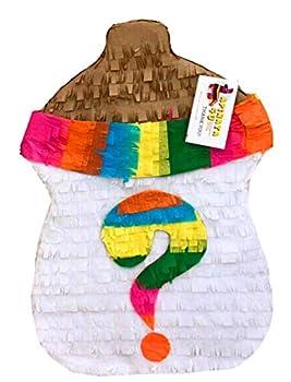 Gender Reveal Pinata Baby Bottle Shape Fiesta Theme Fiesta Gender Reveal Pinata