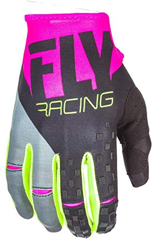 Fly Racing Kinetic MX-MTB Handschuhe, pink-schwarz-hi-vis, Größe: 13, Motocross Glove Mountainbike Downhill BMX