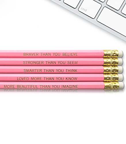 Winnie the Pooh Quote - Inspirational Pencils Engraved With Funny And Motivational Sayings For School And The Office